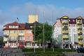 Skrzynka skarg: flaga KOD w centrum miasta