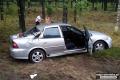 Pijana przewozi�a dwoje dzieci. Opel wyl�dowa� w rowie (zdj�cia)
