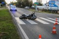 Zderzenie motocykla i osob�wki (zdj�cia)