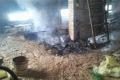 Pożar na poddaszu. Rodzina zaczęła walkę z żywiołem (zdjęcia)