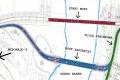 Budowa tymczasowego mostu na Narwi z opóźnieniem -szkic