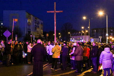 Droga krzyżowa ulicami miasta (zdjęcia, wideo)
