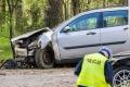 Wypadek na drodze Łyse-Kolno (zdjęcia)