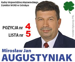 Miros�aw Augustyniak, kandydat na pos�a